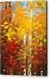 Acrylic Print featuring the painting Vermont Palette by Tatiana Iliina