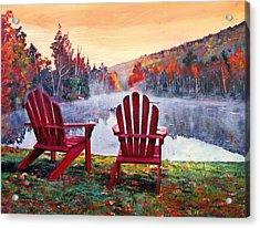 Vermont Romance Acrylic Print by David Lloyd Glover