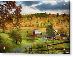 Vermont Sleepy Hollow In Fall Foliage Acrylic Print