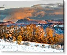 Vermont Snowliage Scene Acrylic Print
