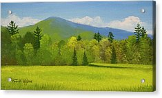 Acrylic Print featuring the painting Vermont Spring by Frank Wilson