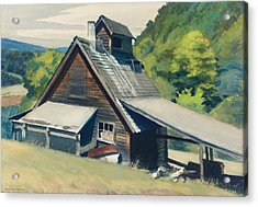 Vermont Sugar House Acrylic Print by Edward Hopper