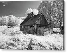 Vermont Sugar Shack In Infra Red Acrylic Print