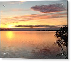 Acrylic Print featuring the photograph Vermont Sunset, Lake Champlain by Felipe Adan Lerma