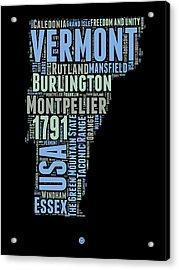 Vermont Word Cloud 1 Acrylic Print