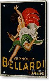 Vermouth Bellardi Torino Vintage Poster Acrylic Print