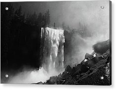 Vernal Fall And Mist Trail Acrylic Print