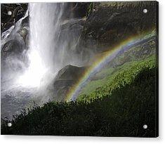 Vernal Falls And Rainbows Acrylic Print