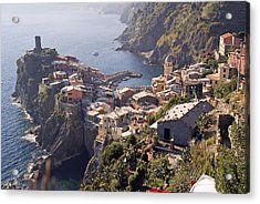 Vernazza And The Cinque Terre Acrylic Print