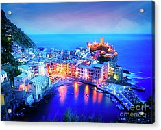 Acrylic Print featuring the photograph Vernazza At Dusk by Scott Kemper
