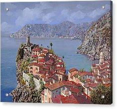 Vernazza-cinque Terre Acrylic Print by Guido Borelli