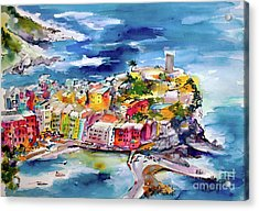 Vernazza Cinque Terre Paintings Of Italy Acrylic Print