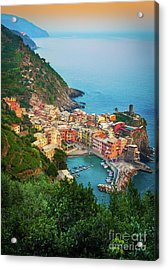 Vernazza From Above Acrylic Print by Inge Johnsson