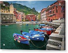 Vernazza Harbor Acrylic Print
