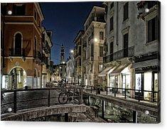Verona After Midnight Acrylic Print by Joachim G Pinkawa