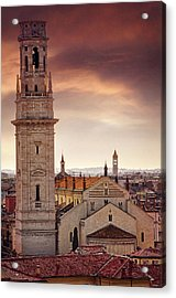 Verona Cathedral From St Peter's Hill  Acrylic Print