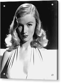 Veronica Lake, Portrait, As Seen Acrylic Print by Everett