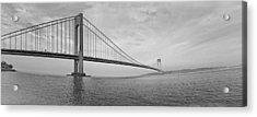 Verrazano Bridge - Small - 6 Ft Long - Panorama Acrylic Print by Alex AG