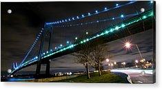 Verrazano-narrows Bridge Acrylic Print by Svetlana Sewell