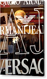 Versace Acrylic Print by Jez C Self