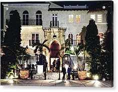 Acrylic Print featuring the photograph Versace Mansion South Beach by Gary Dean Mercer Clark