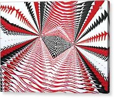 Acrylic Print featuring the digital art Vertical Illusion 2 by Barbara Giordano