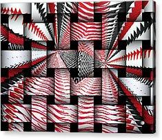 Acrylic Print featuring the digital art Vertical Illusion 3 by Barbara Giordano