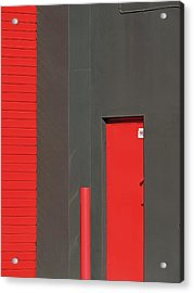 Vertical Red Acrylic Print