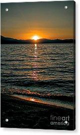 Vertical Sunset Lake Acrylic Print