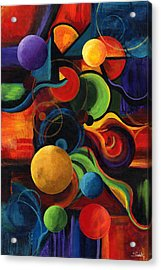 Vertical Synergy Acrylic Print by Laura Swink