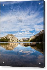 Vertical Version Of Lake Tenaya Acrylic Print by Mimi Ditchie Photography