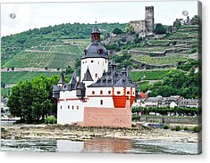 Acrylic Print featuring the photograph Vertical Vineyards And Buildings On The Rhine by Kirsten Giving