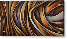 Verticle Design Acrylic Print by Michael Lang