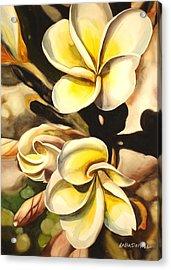 Verticle Plumeria Acrylic Print