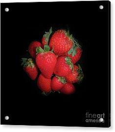 Very Berry Strawberries Acrylic Print by Judy Hall-Folde