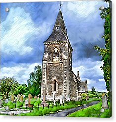 Very Old Church Acrylic Print by Pennie  McCracken