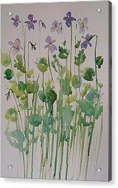 Very Violet Acrylic Print by Kathy  Karas