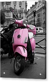 Vespa In Pink Acrylic Print