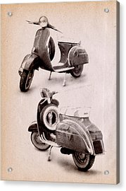 Vespa Scooter 1969 Acrylic Print by Michael Tompsett