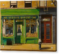 Vesuvio Bakery In New York City Acrylic Print by Christopher Oakley