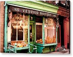 Vesuvio Bakery Acrylic Print by Linda  Parker