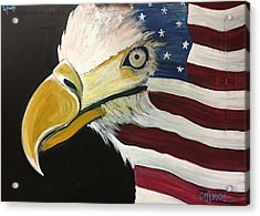 Acrylic Print featuring the painting Veteran's Day Eagle by Laurie Maves ART