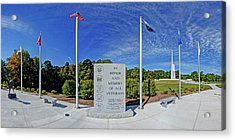 Veterans Freedom Park, Cary Nc. Acrylic Print by George Randy Bass