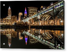 Veterans Memorial Bridge Acrylic Print
