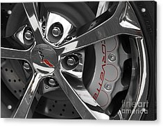Vette Wheel Acrylic Print by Dennis Hedberg
