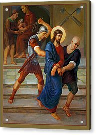 Via Dolorosa - Stations Of The Cross - 1 Acrylic Print