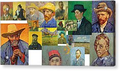 Acrylic Print featuring the painting Vibrance Of Van Gogh Mural IIl by David Bridburg
