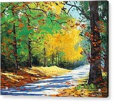 Vibrant Autumn Acrylic Print
