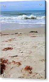 Vibrant Beach With Wave Acrylic Print