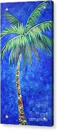 Vibrant Blue Palm Acrylic Print